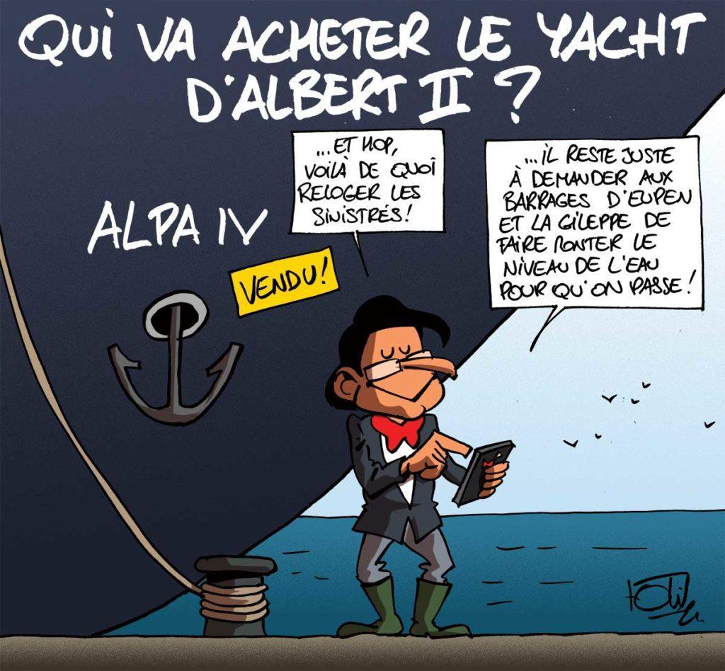 Le yacht d'Albert II à vendre