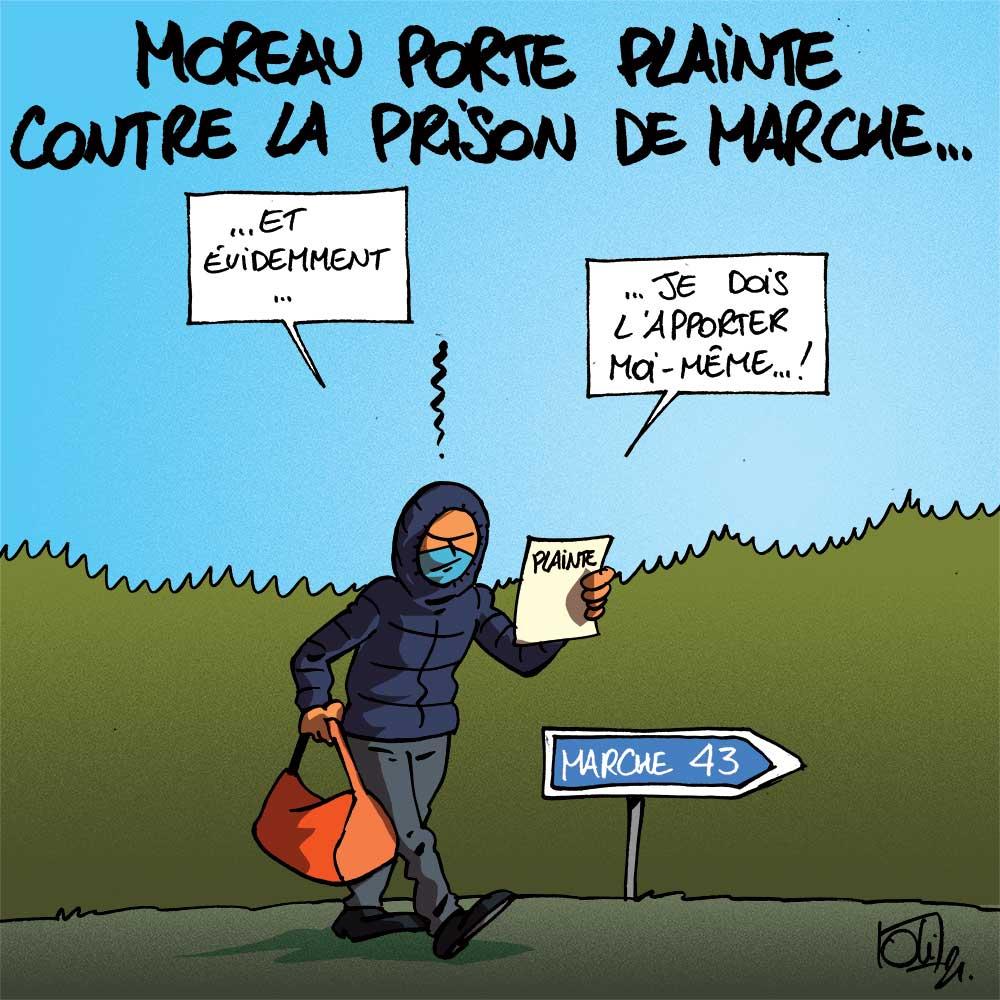 Moreau porte plainte !