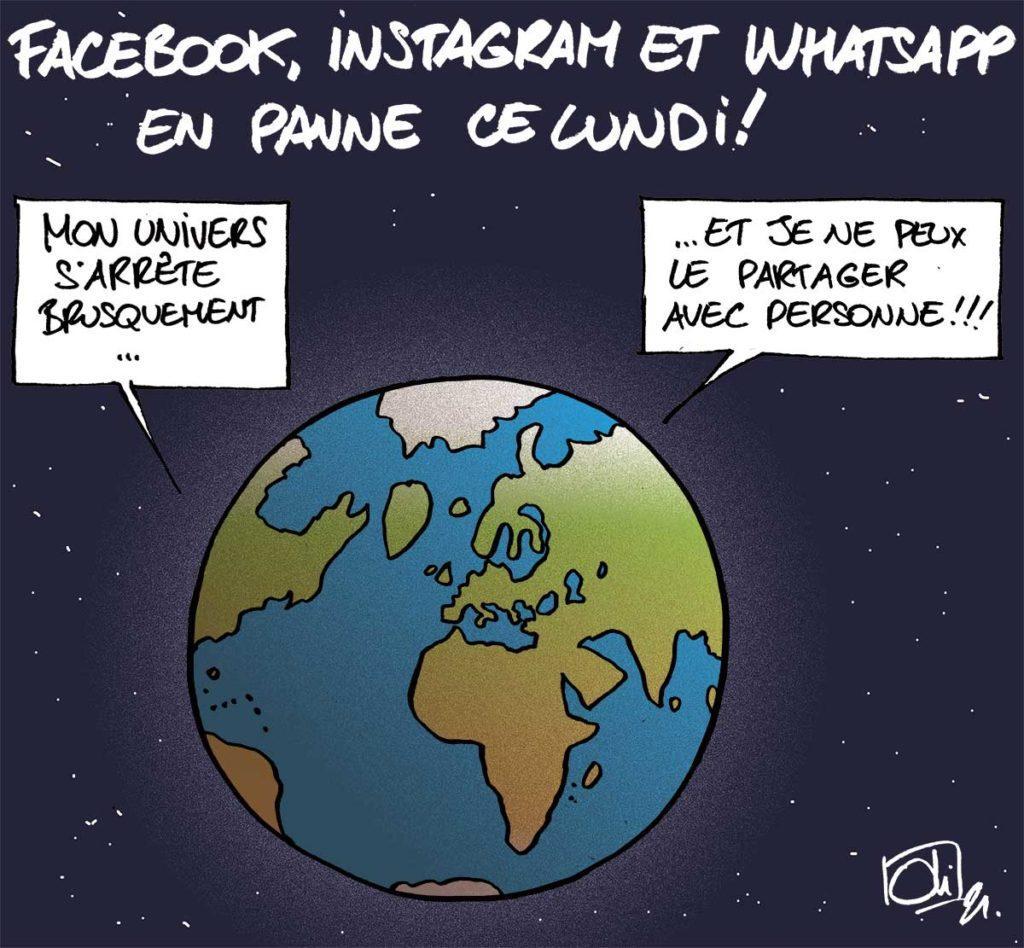 Facebook, Instagram et Whatsapp en panne !
